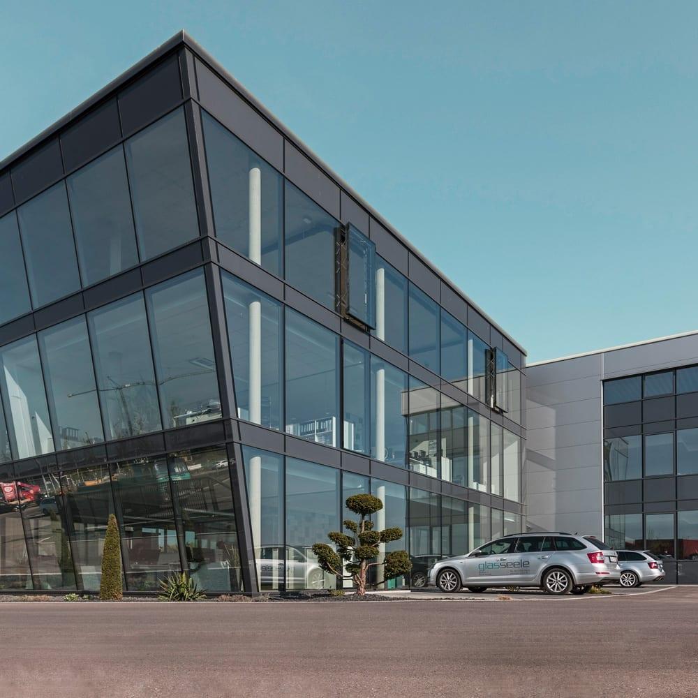 glas seele, Neubau Technisches Büro Glasfassade