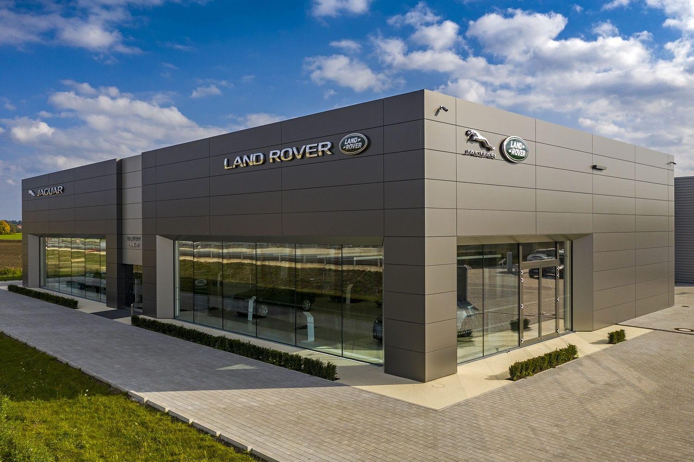 glas seele Referenz: Autohaus Frey, Jaguar - Landrover, Glasfassade mit Structural-Glazing